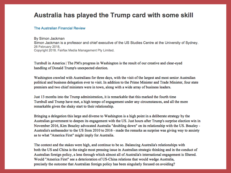 AAC TRump Australia - American Australian Council